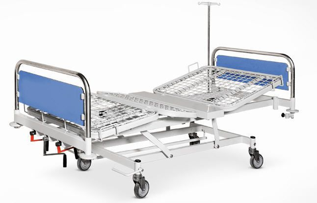 Hospital bed / mechanical / on casters / 4 sections 3303 Psiliakos Leonidas