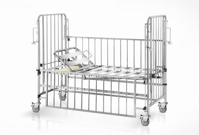 Mechanical bed / on casters / 2 sections / pediatric 1452 Psiliakos Leonidas