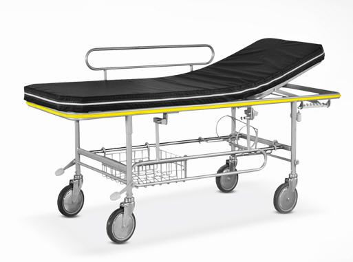 Transport stretcher trolley / mechanical / 2-section 6002 Psiliakos Leonidas
