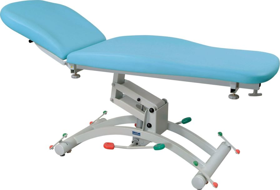 Hydraulic examination table / height-adjustable / on casters / 2-section 200 kg | HYDRO 1050 Series Promotal