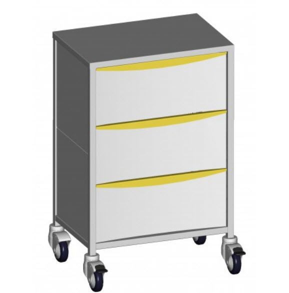 Anesthesia trolley / stainless steel / 3-drawer 44630 Promotal