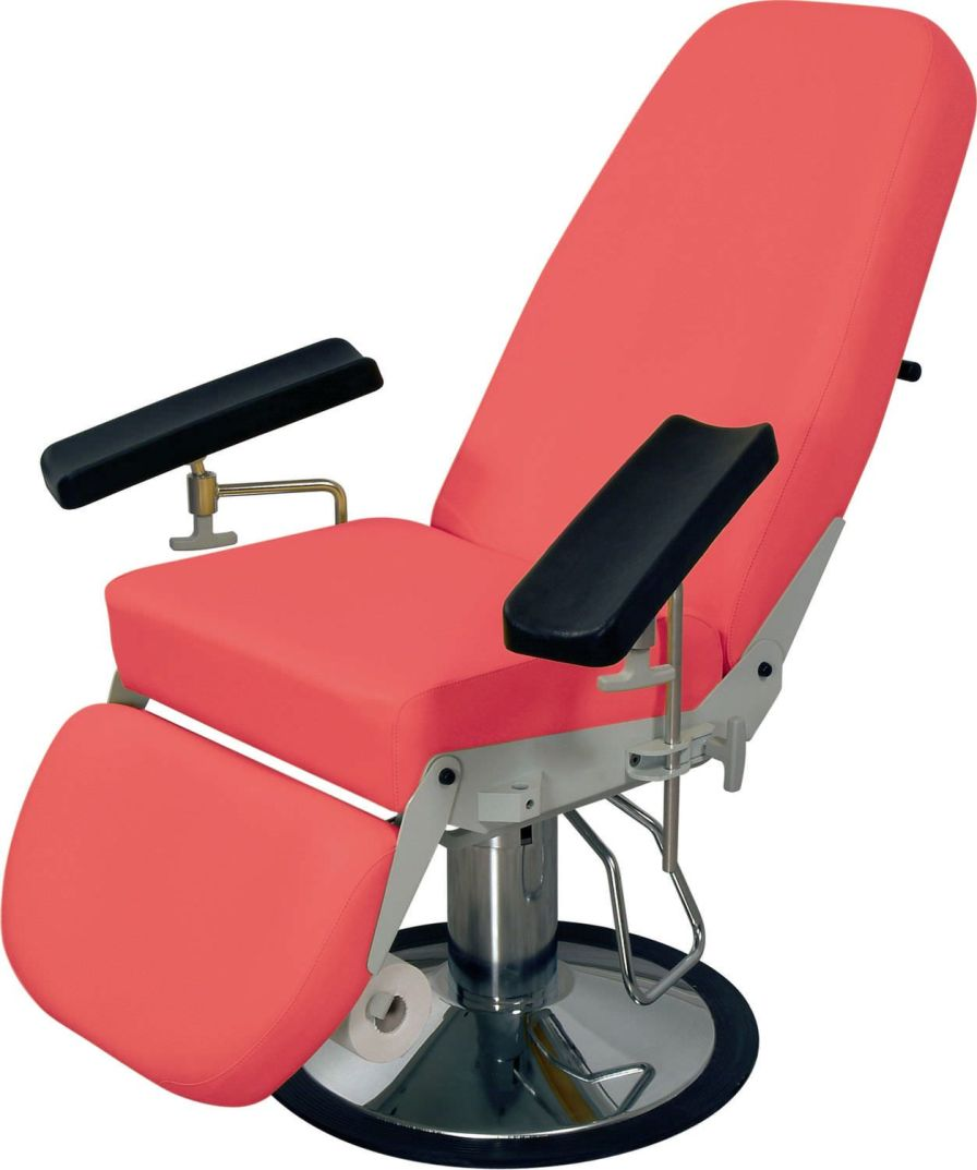 Height-adjustable blood donor armchair / hydraulic Promotal Series Promotal