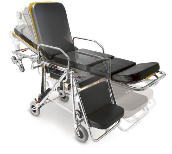 Transport stretcher trolley / emergency / self-loading / height-adjustable Evox 7110 ME.BER