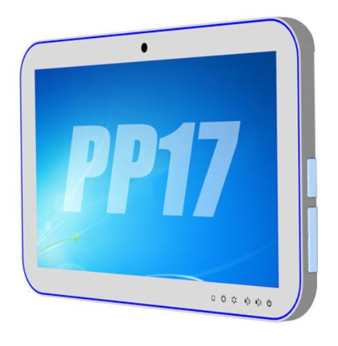 """Waterproof medical panel PC / antibacterial / fanless / with touchscreen 17.3"""" 