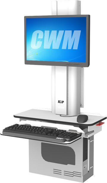 Medical computer workstation / height-adjustable / wall-mounted CWM RDP Health