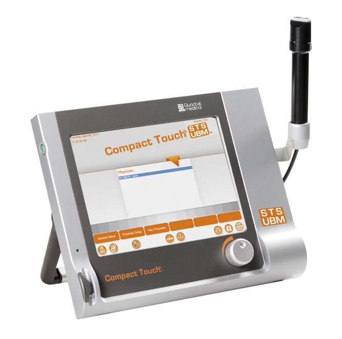 Hand-held ultrasound system / for ophthalmic ultrasound imaging / touchscreen COMPACT TOUCH STS/UBM Quantel Medical