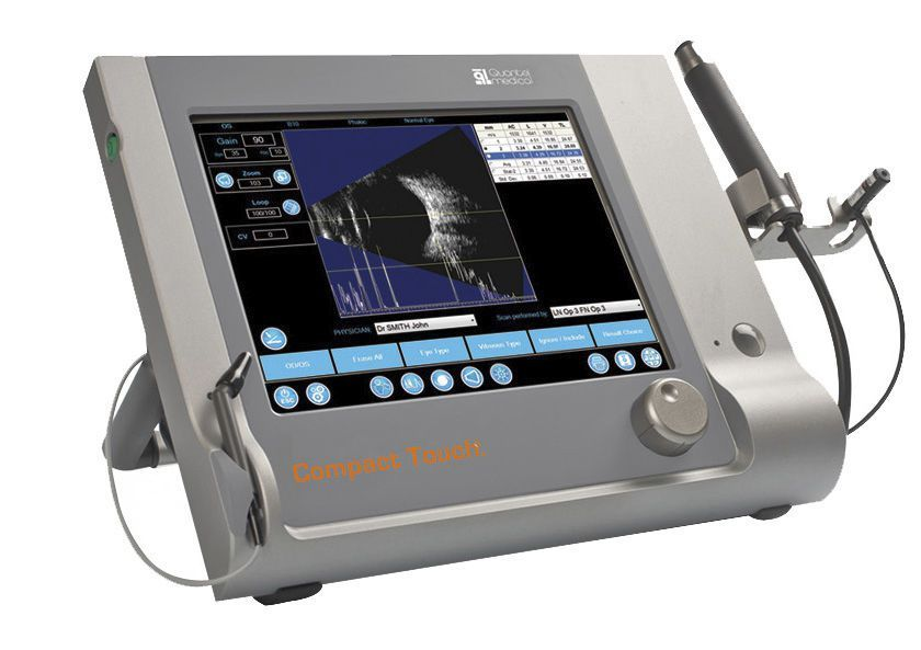 Ophthalmology ultrasound (ophthalmic examination) / ophthalmic biometer / pachymeter / ultrasound biometry COMPACT TOUCH Quantel Medical