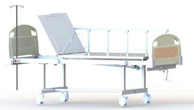 Mechanical bed / on casters / 2 sections Dream M1 PT. FYROM INTERNATIONAL
