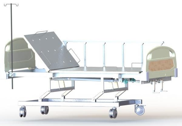 Mechanical bed / height-adjustable / on casters / 2 sections Dream M2 BHL PT. FYROM INTERNATIONAL