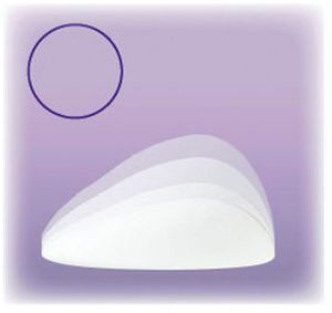 Breast cosmetic implant / anatomical / silicone Replicon® Polytech Health & Aesthetics