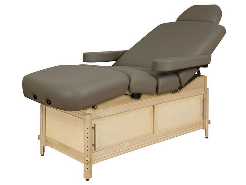 Height-adjustable spa table / 4 sections Clinician™ Oakworks Massage