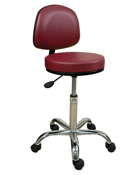 Medical stool / on casters / height-adjustable / with backrest STDXBR18TTCS Oakworks Massage