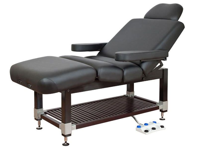 Electric spa table / hydraulic / height-adjustable / 4 sections Clodagh Leo Oakworks Massage