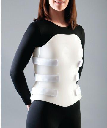 Thoracolumbosacral (TLSO) support corset Custom Bivalve Optec USA