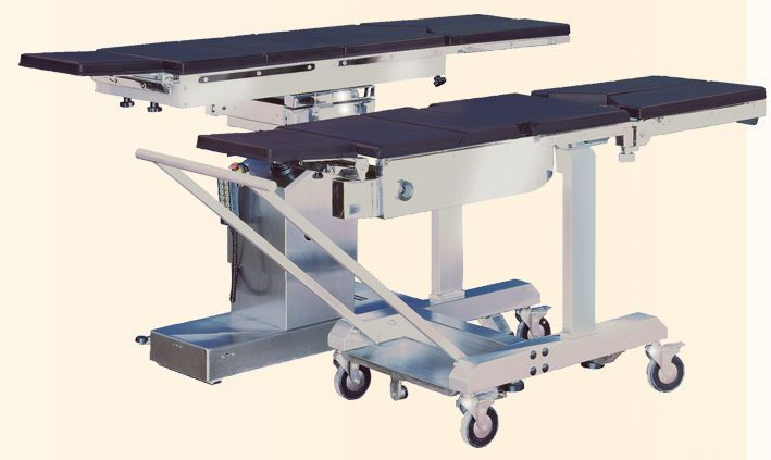 Universal operating table top / 5 sections / transfer SE EM 2010 NUOVA BN