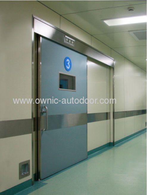 Sliding door / hermetic / aluminum / stainless steel QTDMN OWNIC