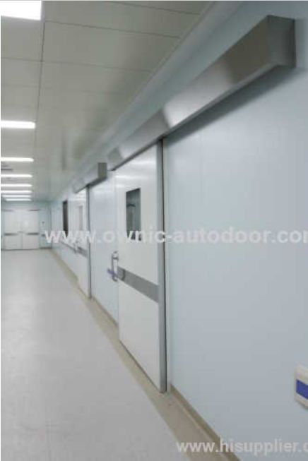 Hospital door / sliding / automatic / stainless steel QTDM OWNIC