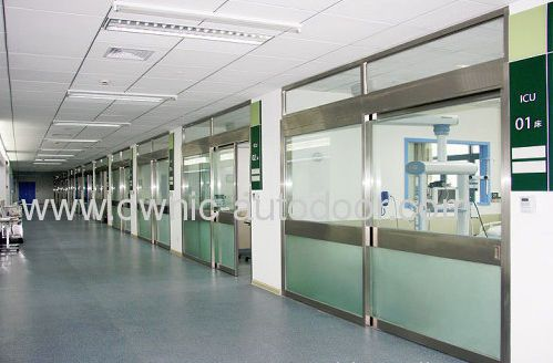Hospital door / sliding / with glass panel OWNIC