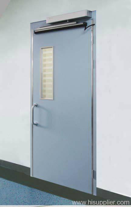 Hospital door / swinging / stainless steel / aluminum PDM1 OWNIC