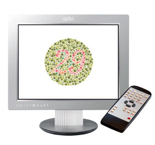 Ophthalmic test chart monitor / remote-controlled OptosChart™ Optos
