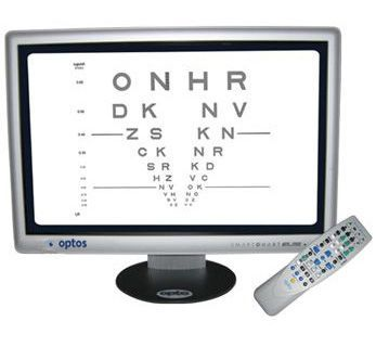 Ophthalmic test chart monitor / optotype / remote-controlled OptosChart™ Elite Optos