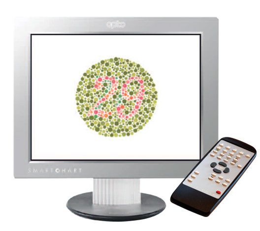 Ophthalmic test chart monitor / remote-controlled OptosChart™ Pro Optos