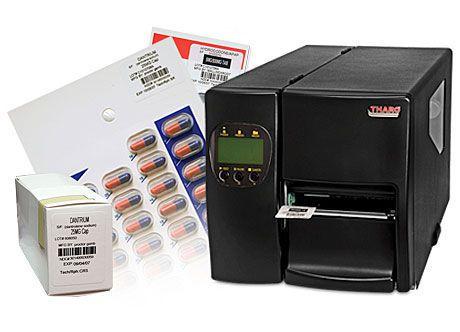 Thermal transfer printer / label License Plate MTS Medication Technologies