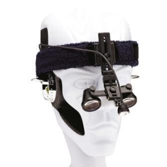 Headband magnifying loupe frame / with headlamp CLOTH Orascoptic