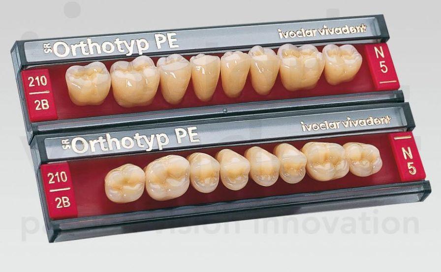Resin dental prosthesis SR Orthotyp PE Ivoclar Vivadent