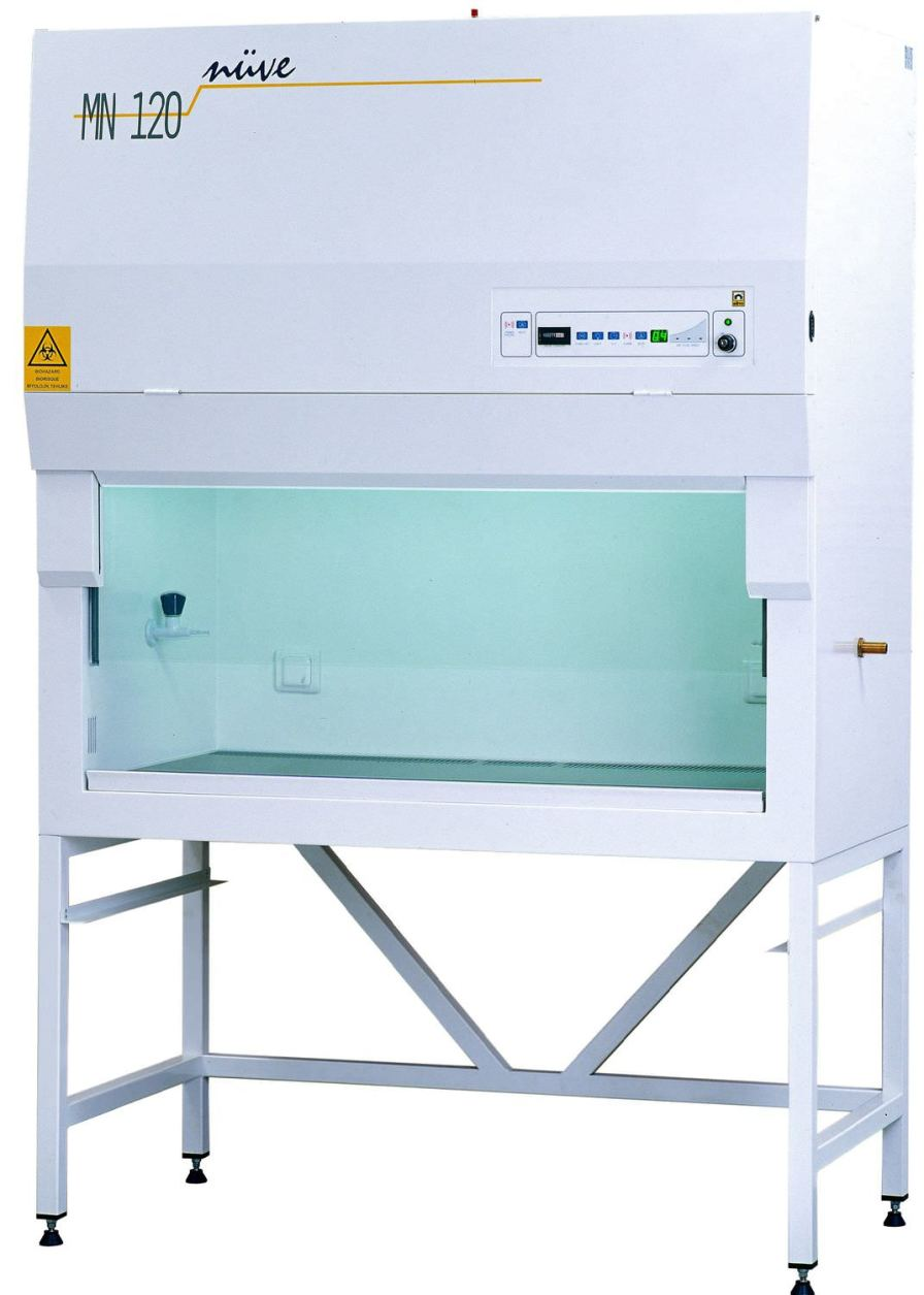 Class II microbiological safety cabinet MN 090, MN 120 Nüve