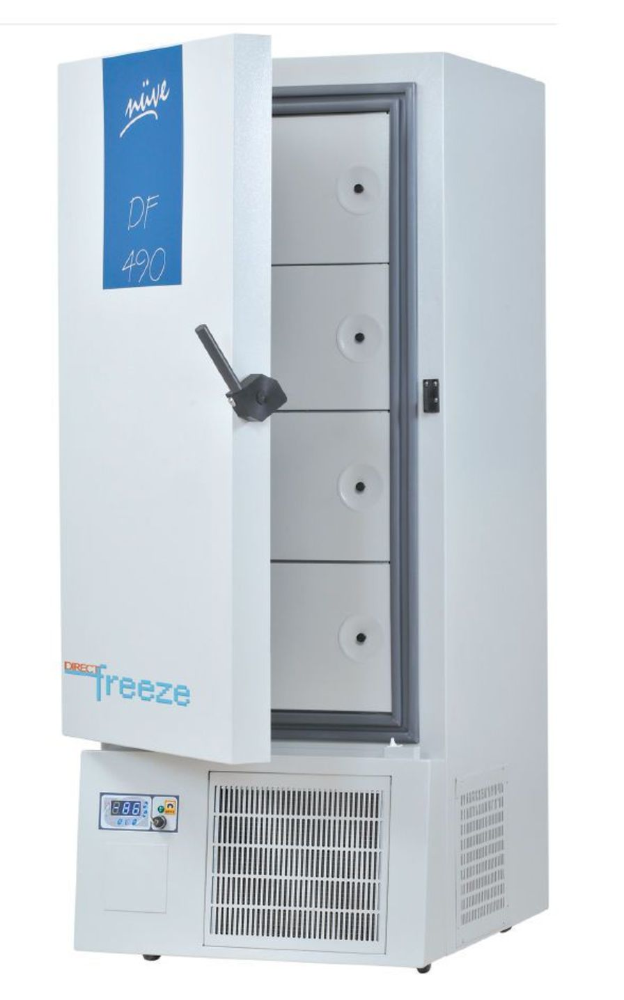 Laboratory freezer / upright / ultralow-temperature / 1-door -86 °C, 455 L | DF 490 Nüve