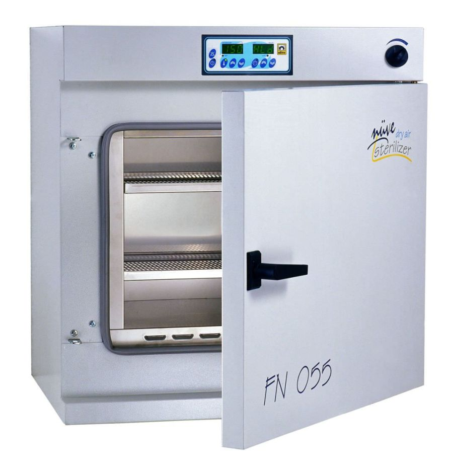 Hot air laboratory drying oven / natural convection / with sterilizer 5 °C ... 250 °C, 32 - 120 L | FN 032, FN 055, FN 120 Nüve