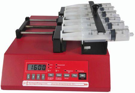 Multi-channel syringe pump 0,000452 - 1451 ml/hr | NE-1600 New Era Pump Systems