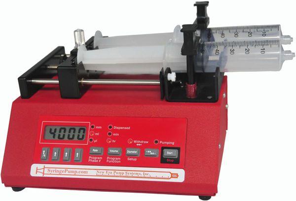 2-channel syringe pump 0,001459 - 7635 ml/hr | NE-4000 New Era Pump Systems