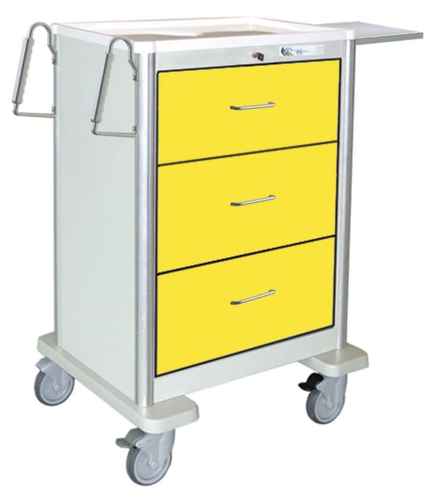 Isolation trolley / 3-drawer UTGKA-999 Logiquip