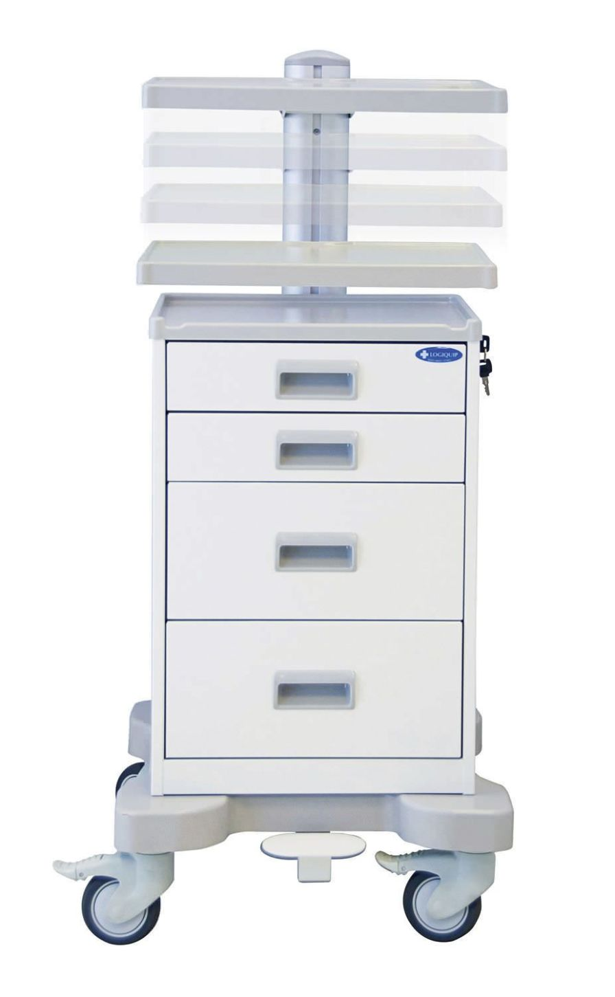 Treatment trolley / with drawer QTP3366-WHI Logiquip