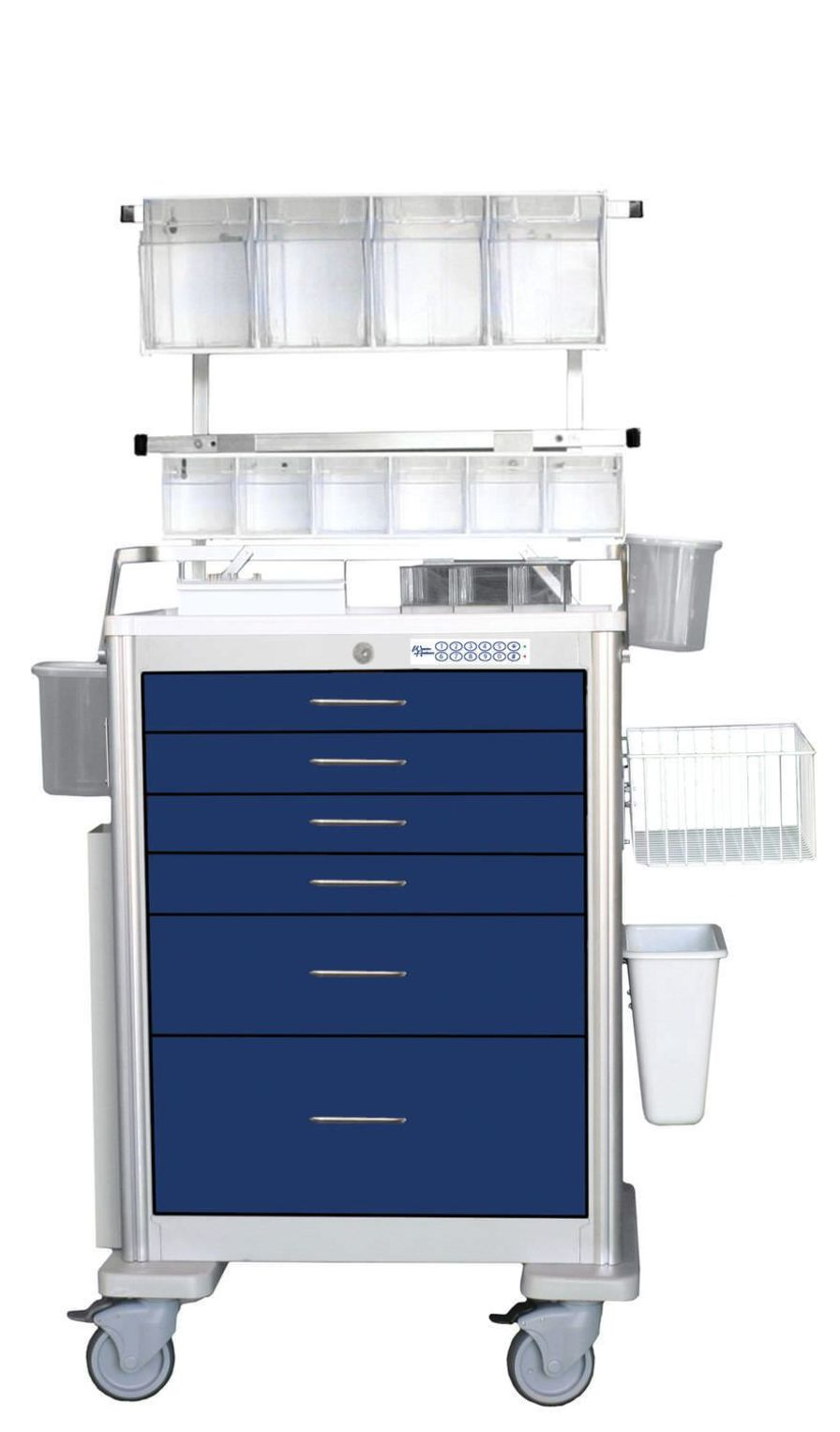 Anesthesia trolley / with electronic locking / 6-drawer UTGEA-333369 Logiquip