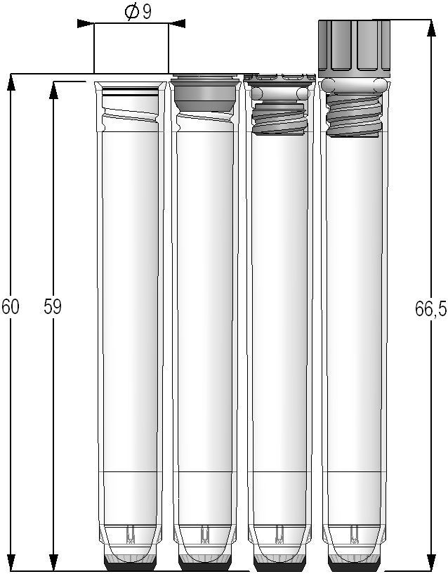 U-bottom test tube / cylindrical / polypropylene 2.00 ml | MPW, MP series Micronic