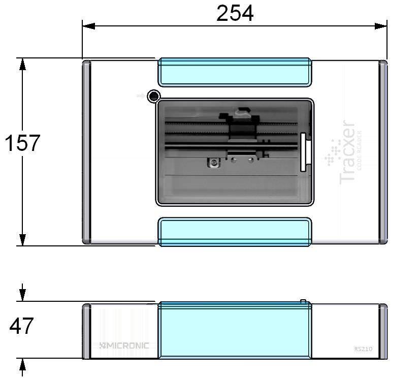 Rack barcode reader / tabletop Tracxer RS210 CRYO Micronic