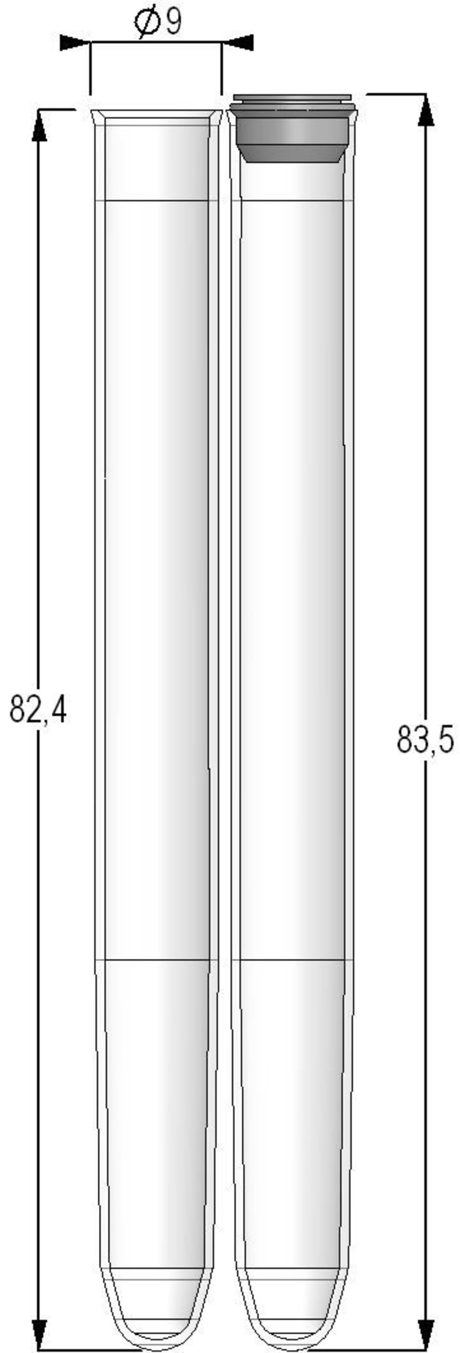 U-bottom test tube / cylindrical / polypropylene 2.50 ml | MPW32073BC3, MP32032 Micronic