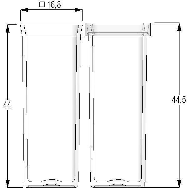 Flat-bottom test tube / polypropylene 7.50 ml | MPxxxxx series Micronic