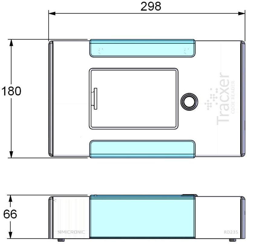Rack barcode reader / tabletop Tracxer RD235 CRYO Micronic