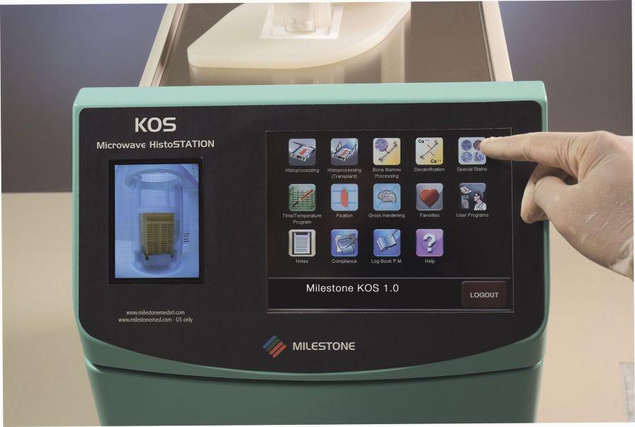 Tissue automatic sample preparation system / fixation / microwave KOS Milestone