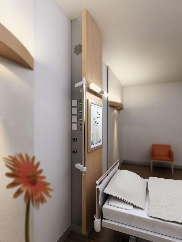 Vertical bed head unit / with light MEV 8000 Modul technik