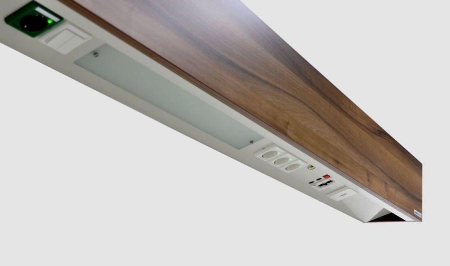 Bed head unit with light / horizontal modulux ambient Modul technik