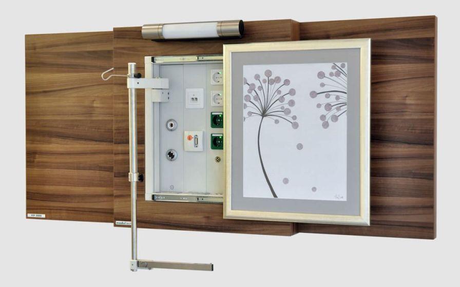 Supply unit with plug sockets / wall-mount VIP 2000 Modul technik