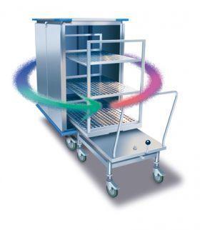 Loading trolley / unloading / for sterilization chamber ECC Euro-Clean-Car MMM Münchener Medizin Mechanik