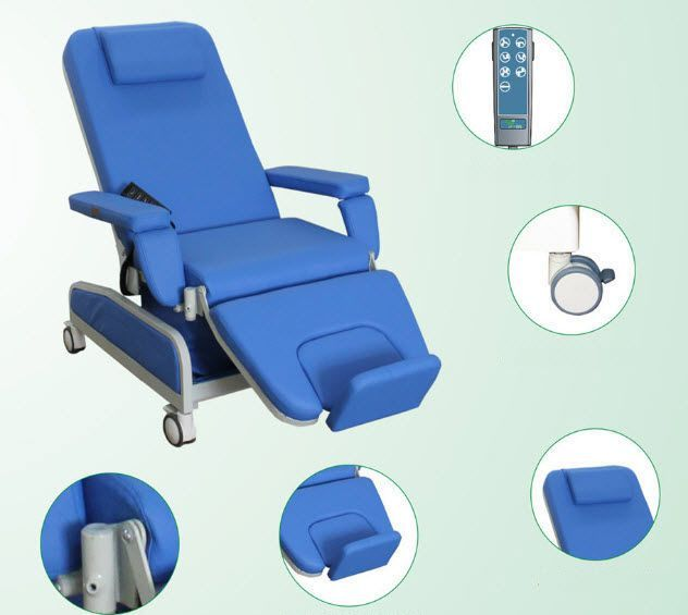 Height-adjustable dialysis chair / electrical / 3 sections PY-YD-520 Nanning passion medical equipment