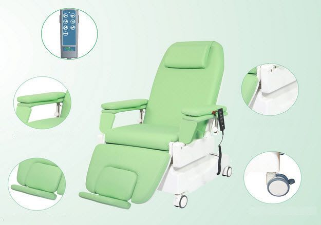 Electrical hemodialysis armchair / on casters / height-adjustable / 3 sections PY-YD-330 Nanning passion medical equipment