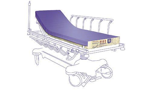 Hospital bed mattress / anti-decubitus / foam / visco-elastic MMO